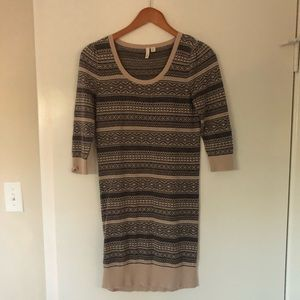 Frenchi Fair Aisle Mini Sweater Dress